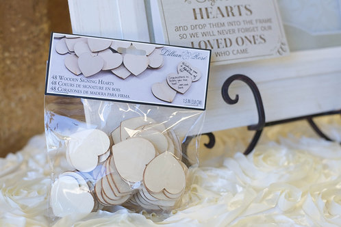 Wedding guest book alternative wood sign hearts