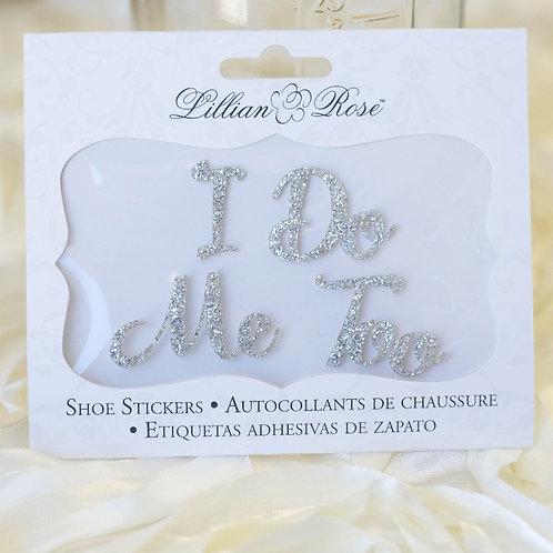 i do me too wedding shoe stickers photo ideas i do boutique