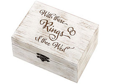 I Thee Wed Rustic Wedding Ring Vows Box