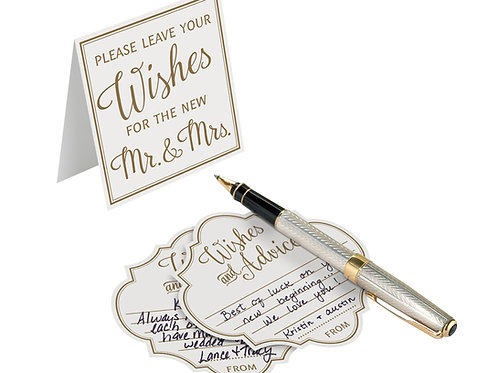 wedding wishes and advice gold ivory