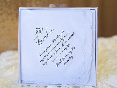 grandma hankie grandmother wedding gift