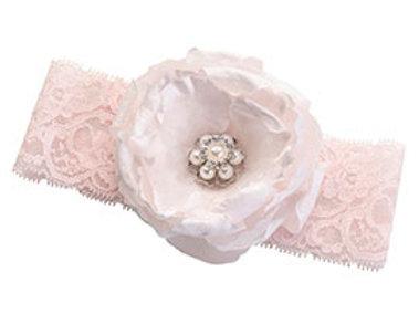 blush pink flower wedding leg garter