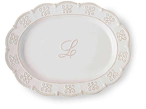Initial Oval Platter L