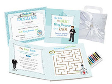 ring bearer activity book rehearsal dinner blue