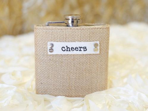 cheers wedding flask