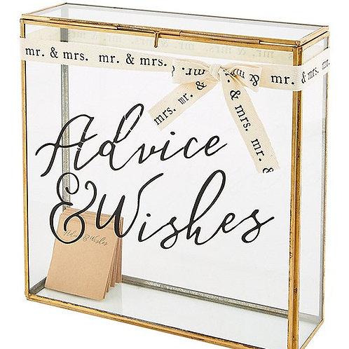 Advise & Wishes Glass Box
