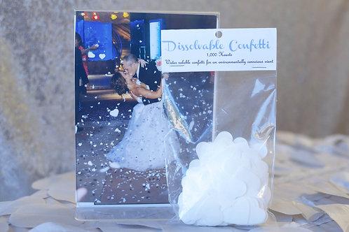 wedding exit confetti hearts