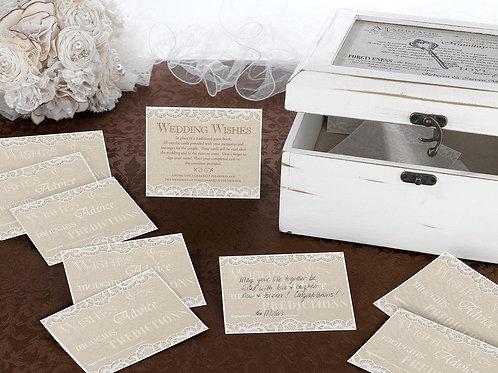 wedding advice cards lillian rose lace