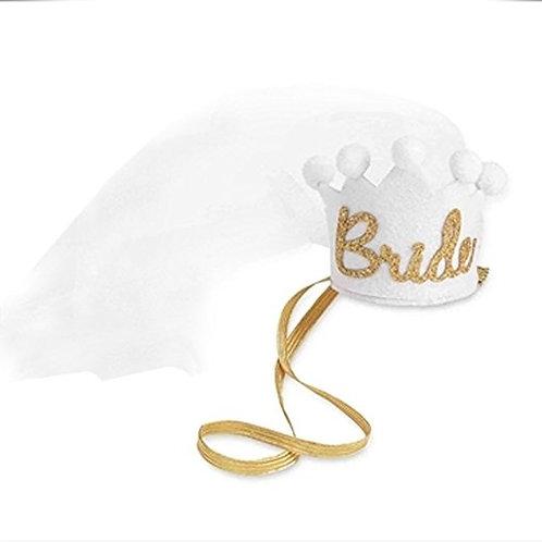 bride bachelorette tiara veil
