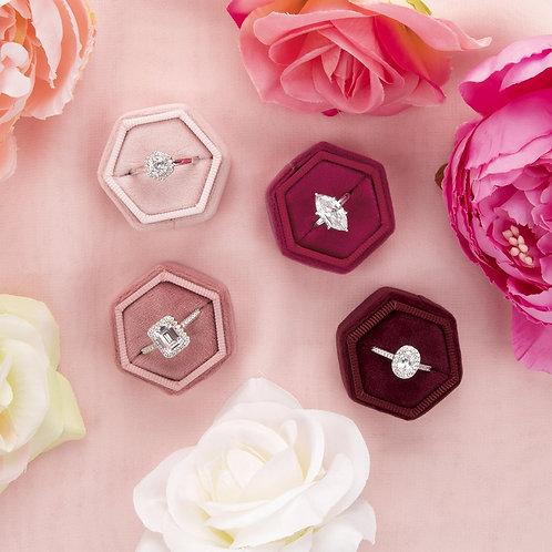 Velvet Ring Box - Hexagon