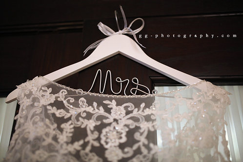 white bride mrs wedding dress hanger i do boutique