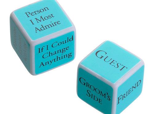 blue wedding shower game ideas dice