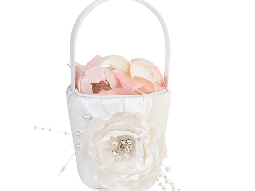 Chic & Shabby Pearl Flower Girl Basket