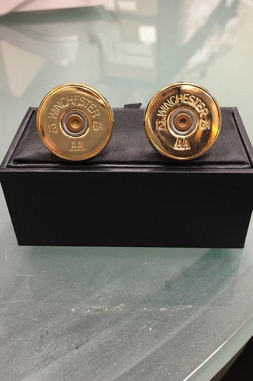 12 gauge gold cuff links wedding gift ideas groom groomsman