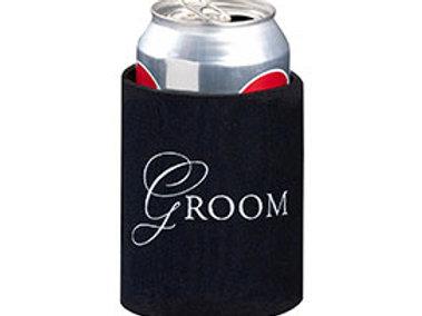 groom black cup cozy wedding gift idea