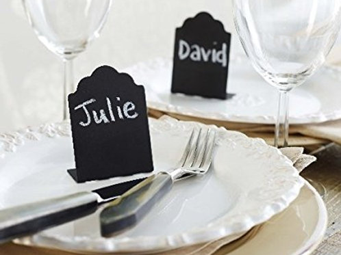 chalkboard place cards, wedding place cards, table numbers, food labels, chalk labels