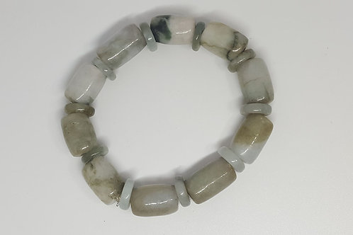 Jade, Bracelet olives 16mm