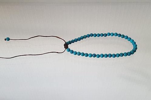 Turquoise reconstituée 4mm réglable