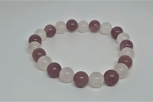Aventurine rose et Quartz rose