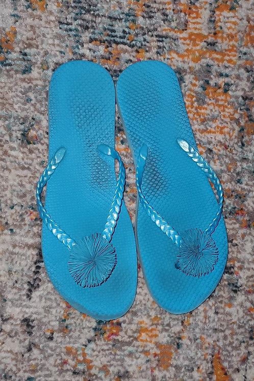 Well worn flip flops