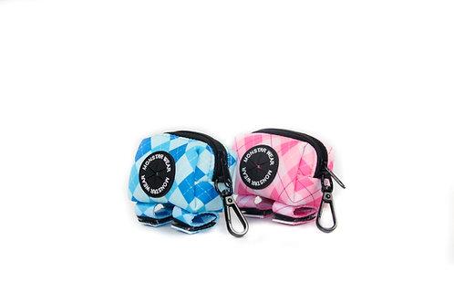 Pink & Blue Golfing Poop Bag Holder