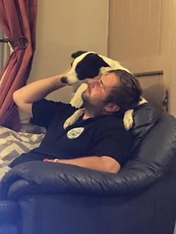 Cuddles with Oscar