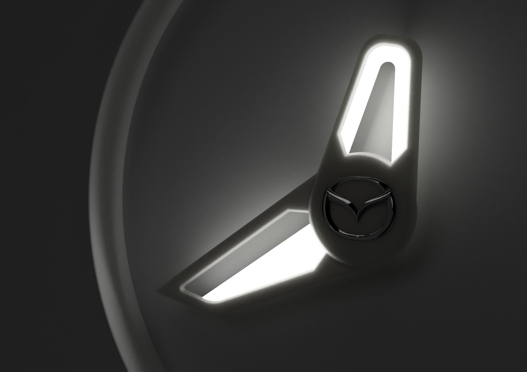 zegar mazda design