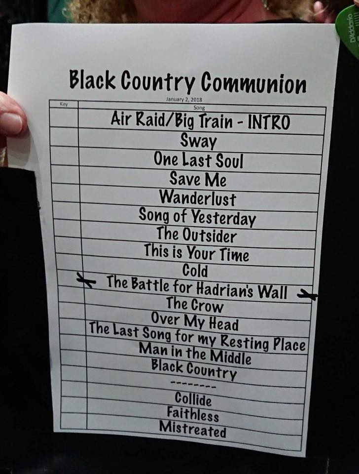 Black Country Communion_Set List_Wolves Civic_2 Jan 2018.jpg