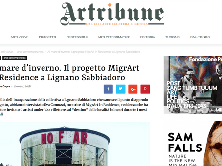 MigrArt su Artribune.it