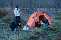 Accampati nei boschi balcanici