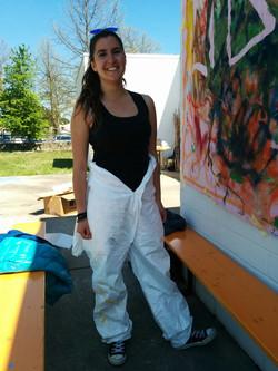Sara pronta a pitturare