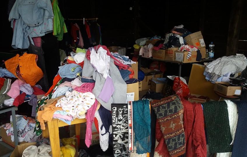 Magazzino indumenti donati