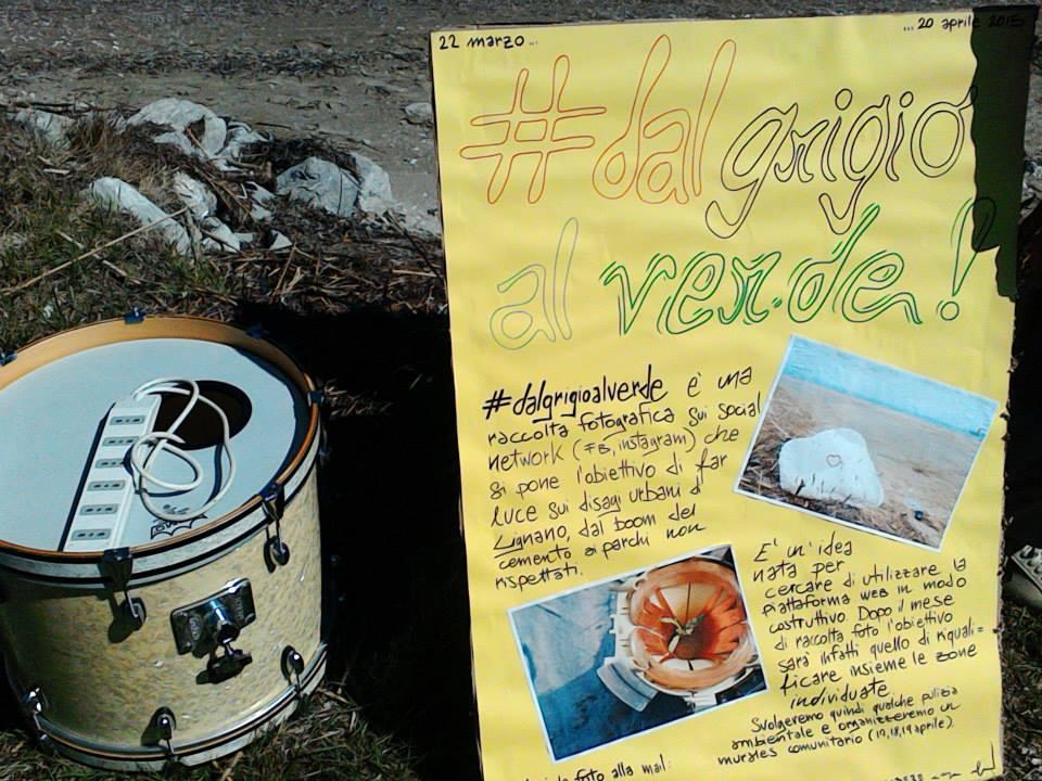 Cartellone #dalgrigioalverde