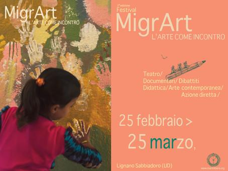 """2^ Edizione del Festival """"MigrArt : L'arte come incontro"""""""