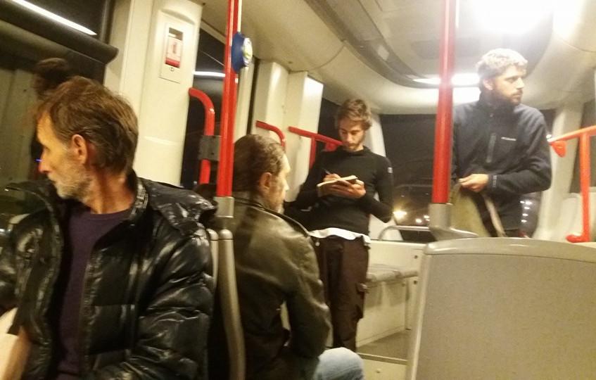 Disegni in tram