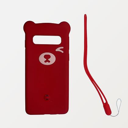 Funda de Diseño Osito Rojo para Samsung Galaxy S10