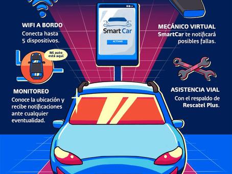 Vuelve tu auto inteligente con SmartCar de Telcel