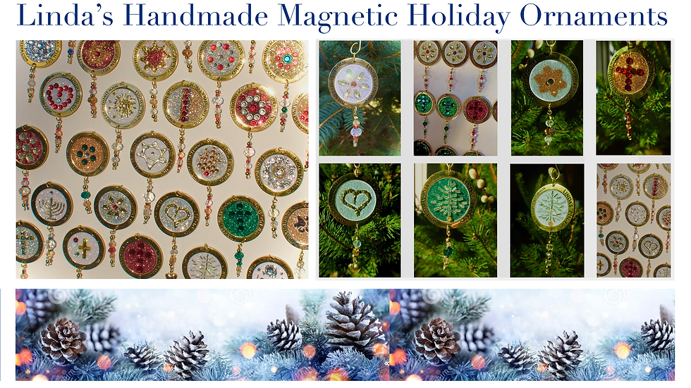 Linda's Handcrafted Magnetic Holiday Ornaments