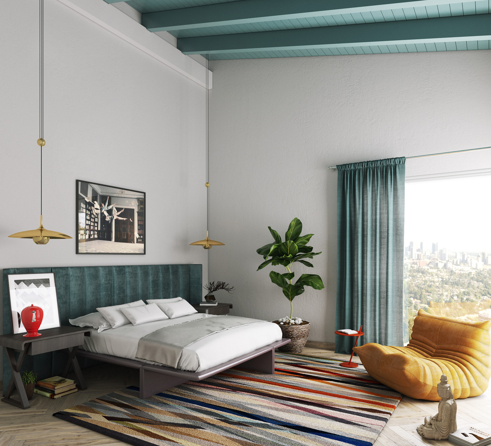 La Hills Master Bedroom - Premium Interior Design Services -