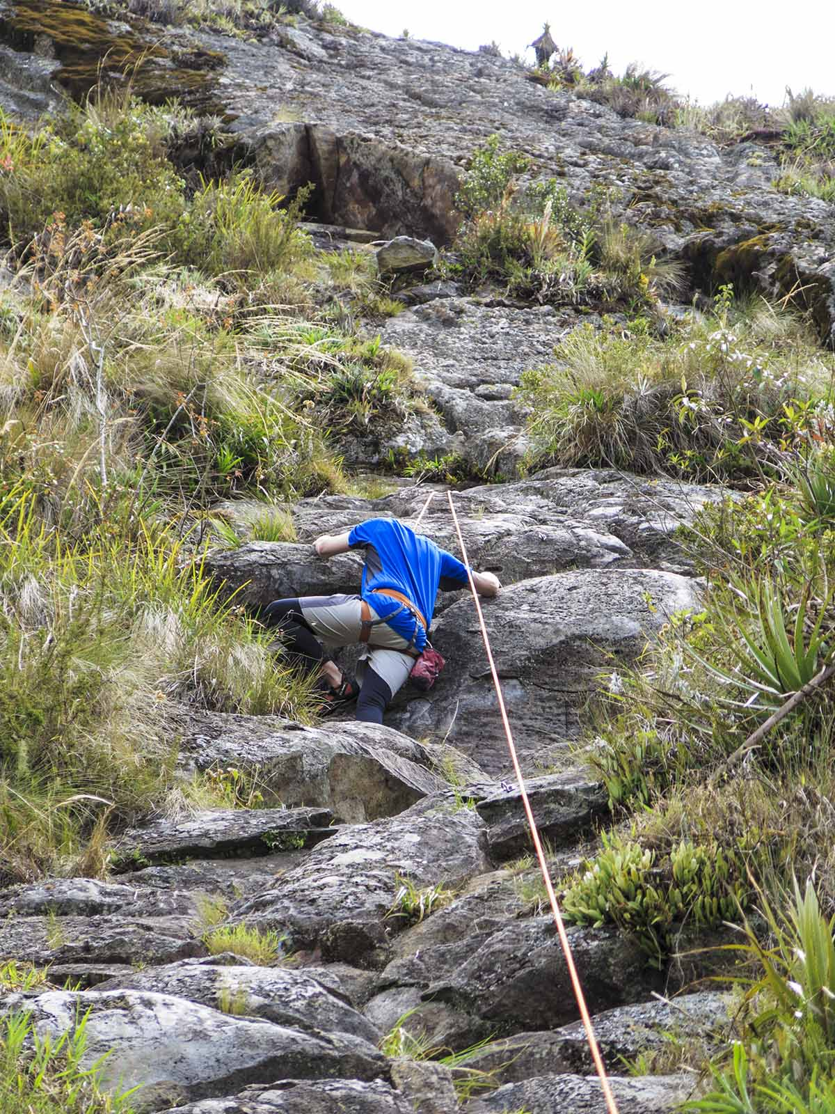 rock climbing in Ecuador