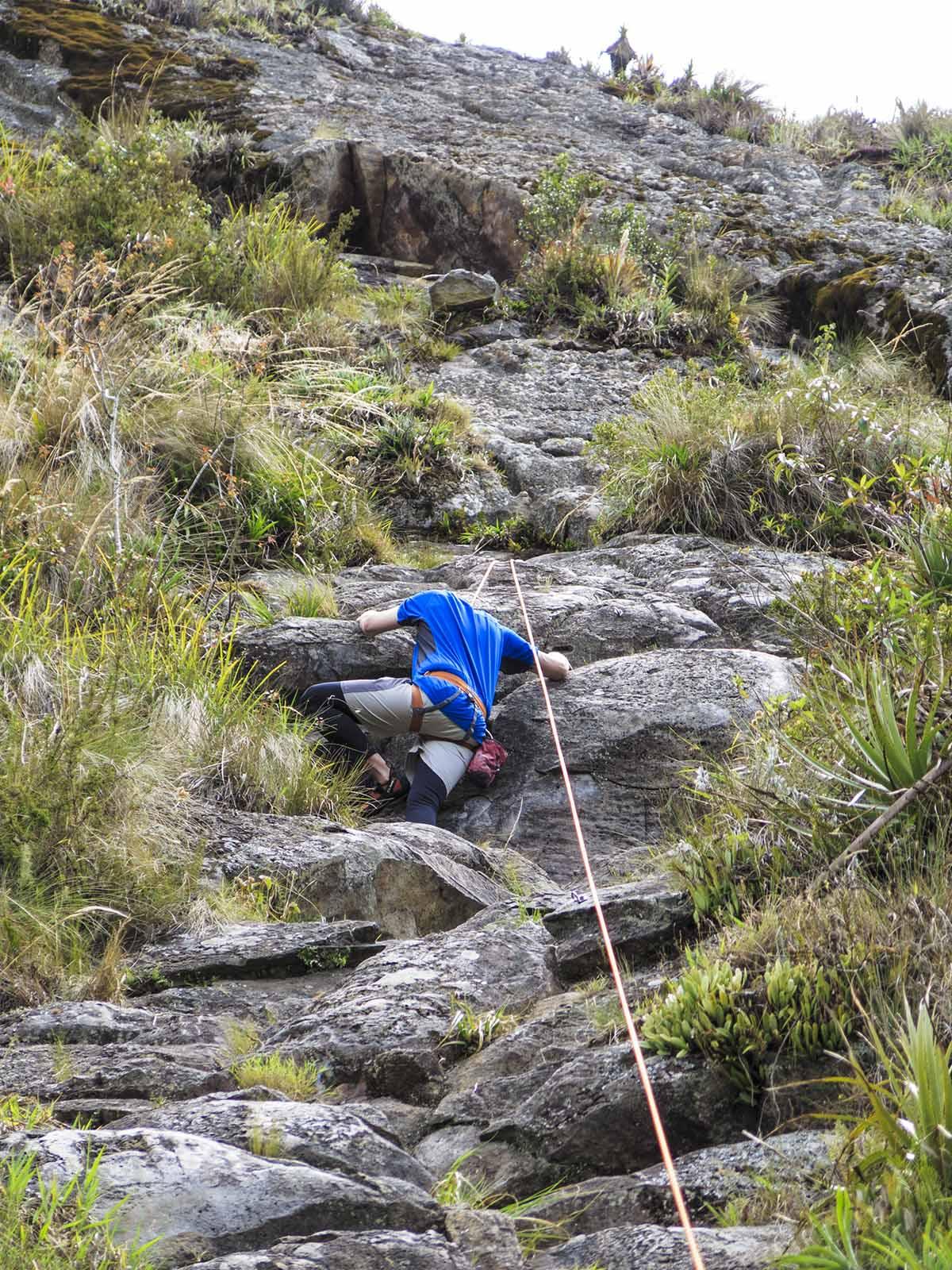 rock climbing in Ecuador