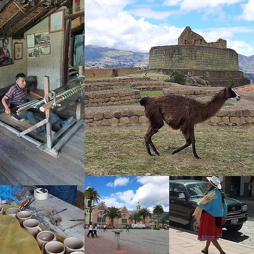 INGAPIRCA (complejo arqueológico) +GUALACEO Y CHORDELEG (pueblos artesanales)