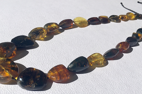 Necklace With Amber - Handmade