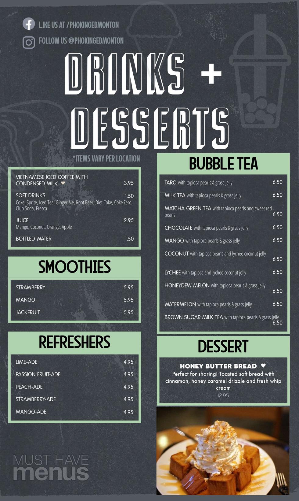 Drinks / Dessert