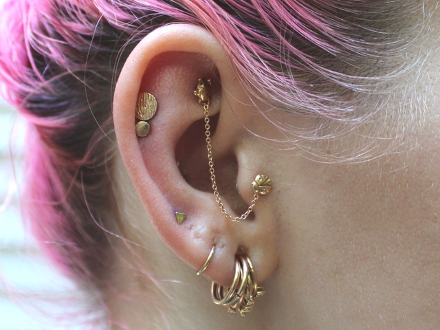 Healed & Fresh Yellow Gold Ear Curation