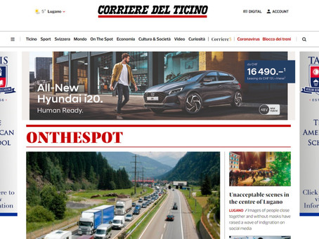AMG proud to announce collaboration with Corriere del Ticino.
