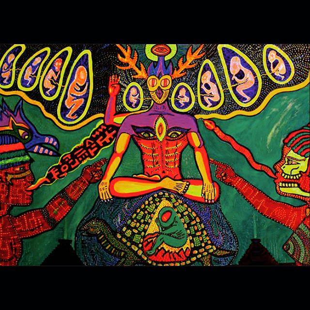 _Origins Meditation_ #acryliconcanvas  32 x 40_ #visionaryart #uvartist #blacklightart  #turtle #ali
