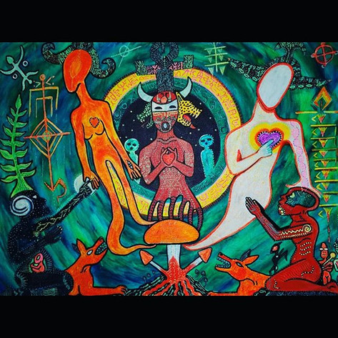 _Dogon, Tales from Sirius_- acrylic on c