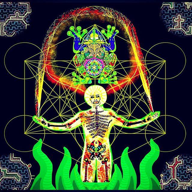 _El Kambo_ #digitalart #visionaryart #kambo #psychedelicart #shamanicart #psychonaut  #questionevery