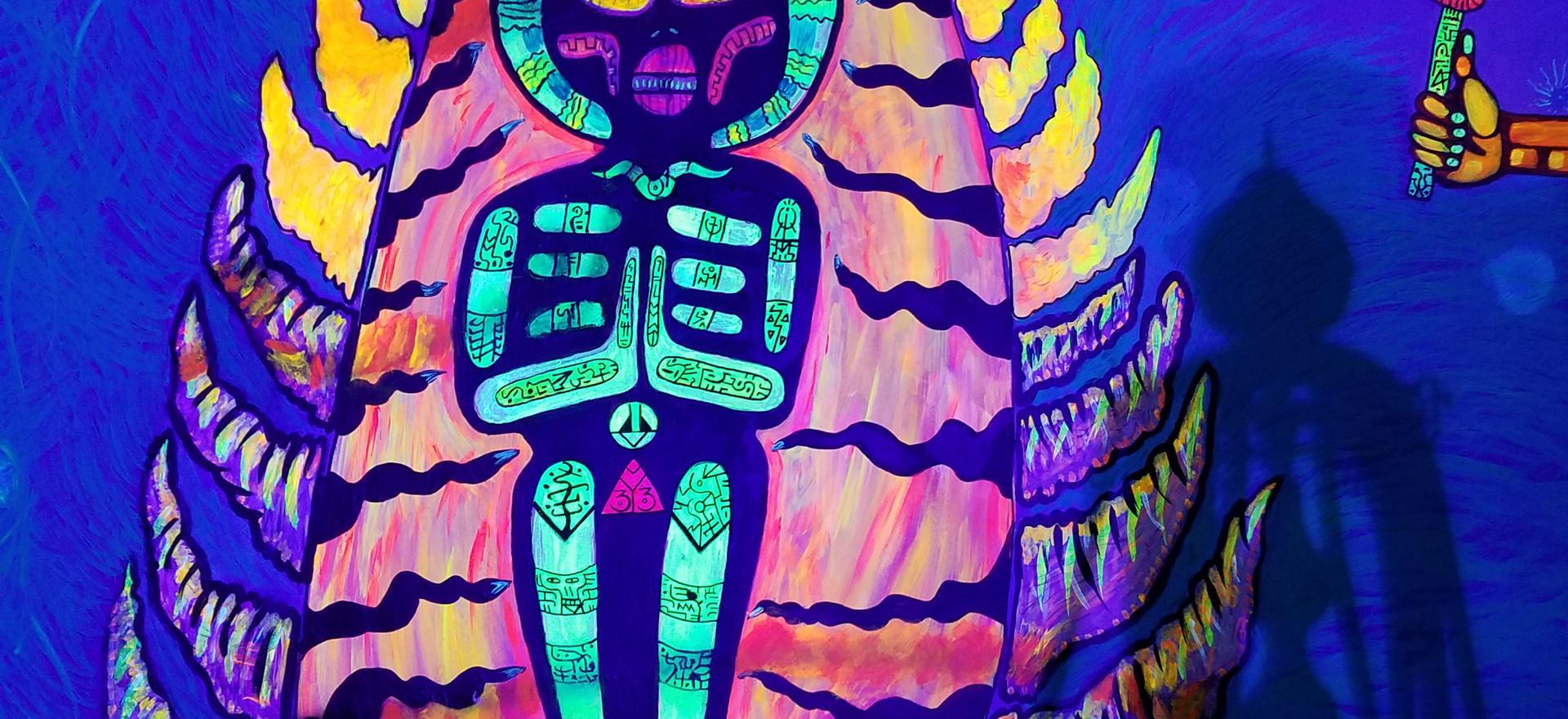 Smokeshop Mister Vape shop in N.Bergen, N.J. Full UV reactive 24 x 18 ft.